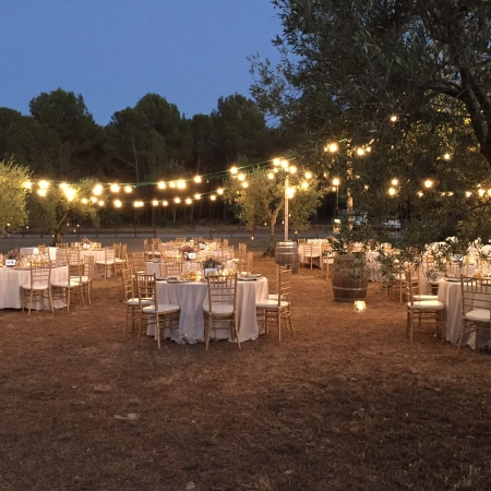 Open air wedding_lights1